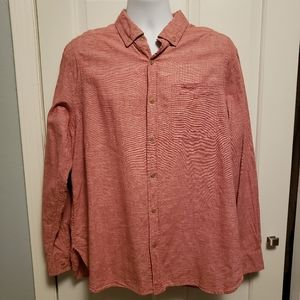 Woolrich Button Down Shirt Hemp Blend Orange
